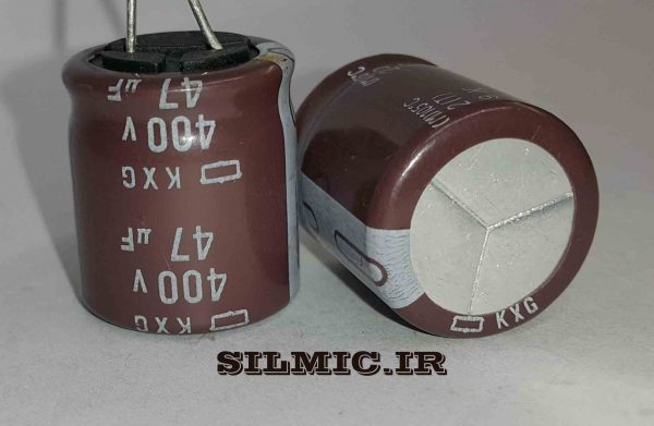 خازن 47 میکرو 400 ولت NIPPON