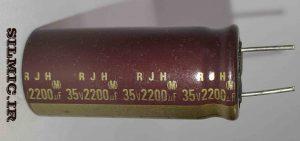 خازن الکترولیتی 2200 میکرو 35 ولت ژاپنی RJH