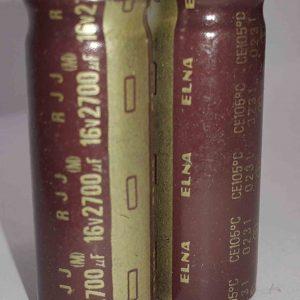 خازن الکترولیتی 2700 میکرو فاراد 16 ولت RJJ