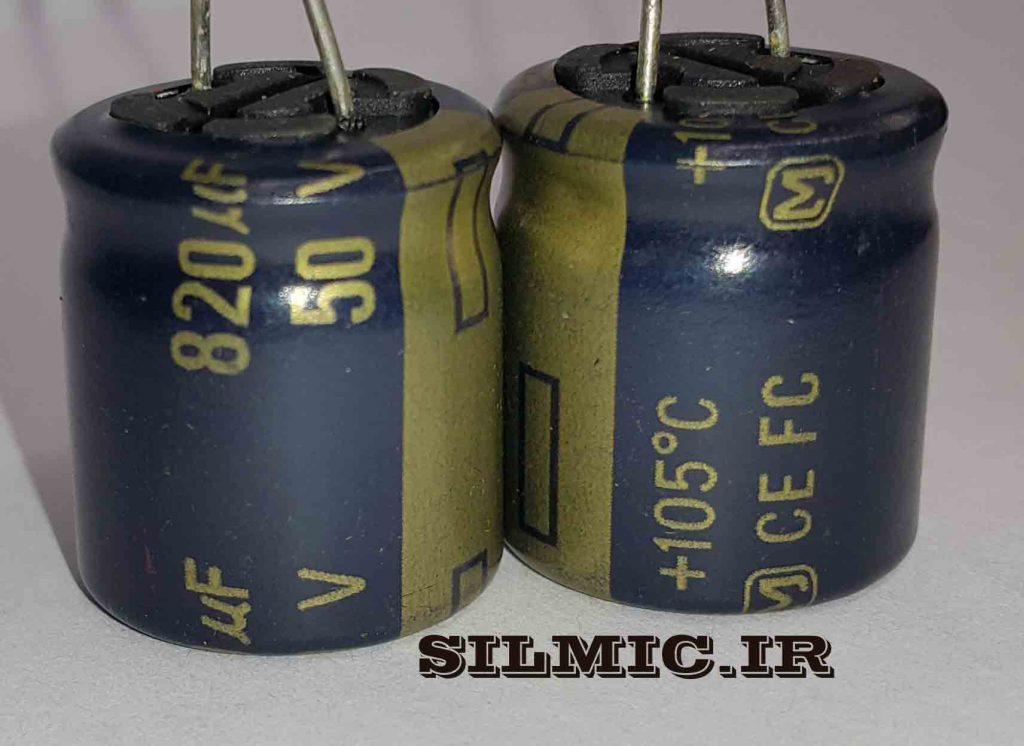 خازن های فای 820 میکرو 50 ولت پاناسونیک