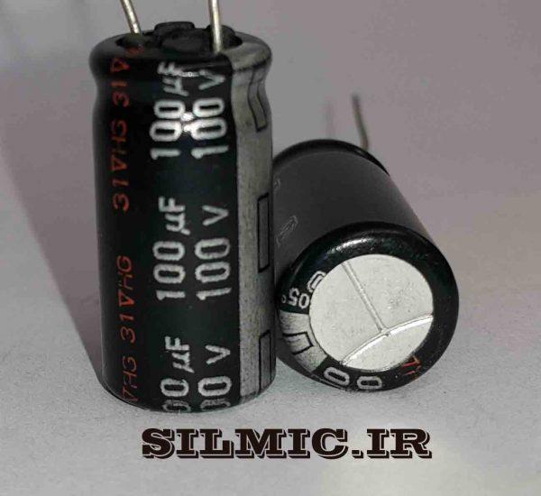 خازن الکترولیتی 100 میکرو 100 ولت سری NHG