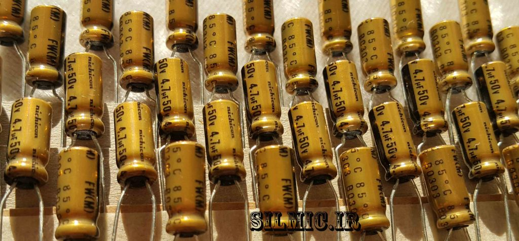 خازن های فای نیچیکون 4.7 میکرو فاراد 50 ولت