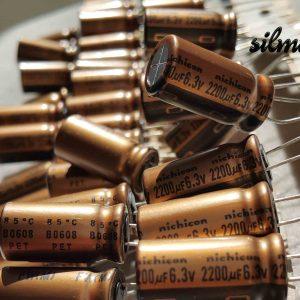 خازن های فای نیچیکون 2200 میکرو فاراد 6.3 ولت