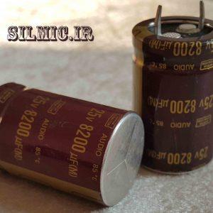 خازن الکترولیتی 8200 میکرو 25 ولت