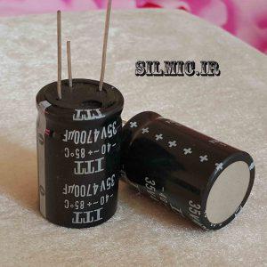 خازن الکترولیتی 4700 میکرو فاراد 35 ولت