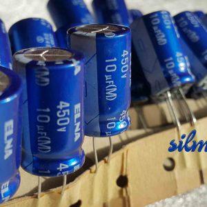 خازن آدیو 10 میکرو فاراد 450 ولت ژاپنی ELNA