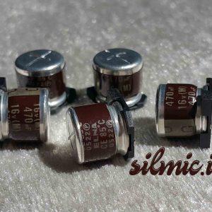 خازن های گرید صوتی 470 میکرو فاراد 16 ولت smd