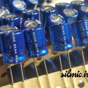 خازن آدیو 330 میکرو فاراد 25 ولت ژاپنی ELNA