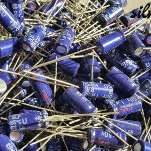 خازن بی پلار 1 میکرو فاراد 50 ولت PANASONIC