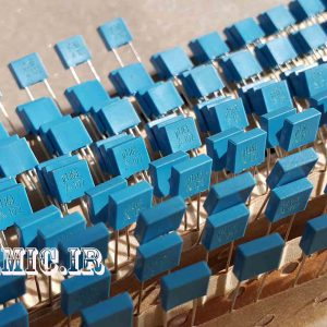 خازن 100 نانو فاراد 63 ولت MKT ساخت ECPCOS اسپانیا