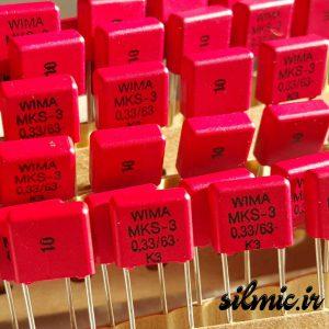 خازن 330 نانو فاراد 63 ولت WIMA آلمان سری MKS3