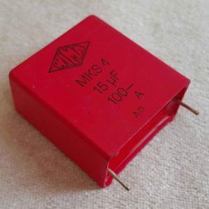 خازن 15 میکرو فاراد 100 ولت WIMA