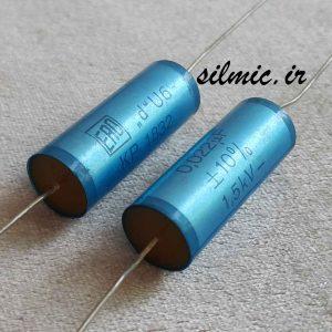 خازن آدیو اکسیال 22 نانو فاراد 1500 ولت