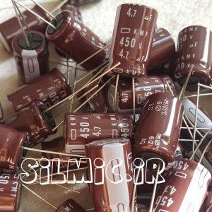 خازن الکترولیتی 4.7 میکرو فاراد 450 ولت