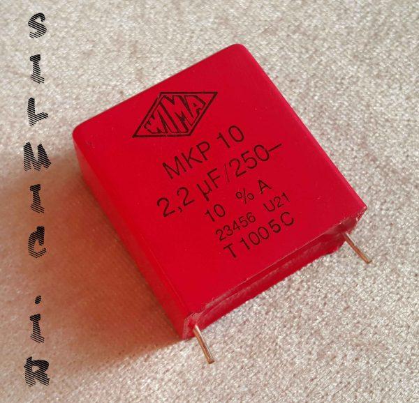 خازن های فرکانس 2.2 میکرو فاراد 250 ولت WIMA آلمان