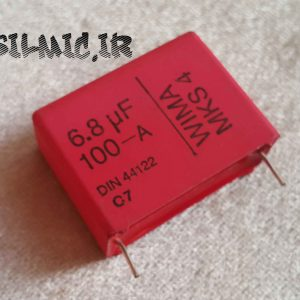 خازن 6.8 میکرو فاراد 100 ولت WIMA آلمان