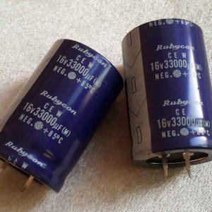 خازن آدیو 33000 میکرو فاراد 16 ولت