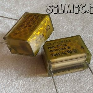 خازن کاغذی متالیزه 470 نانو فاراد 275 ولت ac