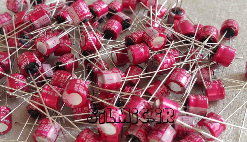خازن آدیو 100 میکرو فاراد 6.3 ولت ELNA