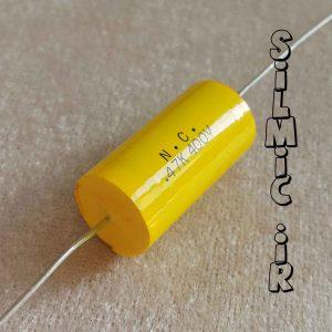 خازن اکسیال 470 نانو فاراد 400 ولت