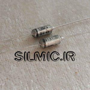 خازن تانتال های اند 1 میکرو فاراد 35 ولت