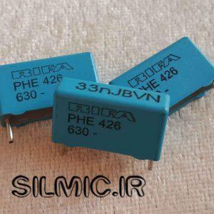 خازن های فرکانسی 33 نانو فاراد 630 ولت