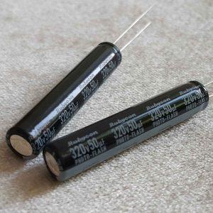 خازن 50 میکرو فاراد 320 ولت rubycon