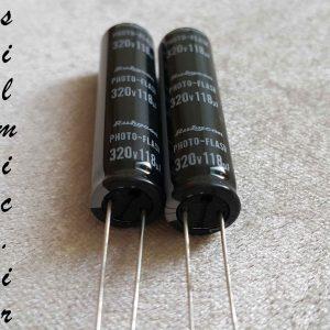 خازن 118 میکرو فاراد 320 ولت rubycon