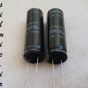 خازن الکترولیتی 120 میکرو فاراد 250 ولت