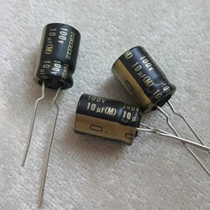 خازن های گرید 10 میکرو فاراد 100 ولت صوتی
