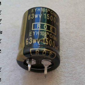 خازن آدیو 1500 میکرو فاراد 63 ولت ROE VISHAY
