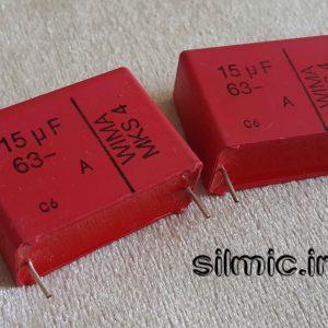 خازن 15 میکرو فاراد 63 ولت WIMA آلمان سری MKS4