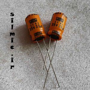 خازن الکترولیت 33 میکرو فاراد 35 ولت NIPPON