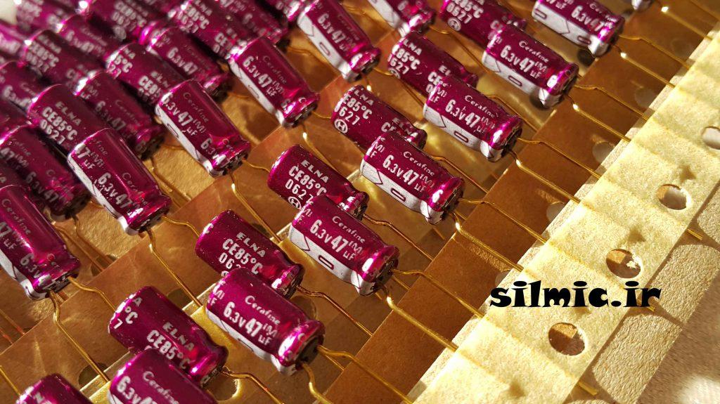 خازن cerafine النا 47 میکرو فاراد 6.3 ولت های گرید
