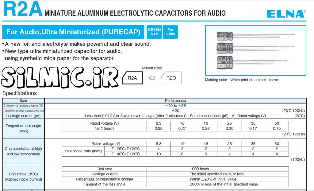elna r2a capacitor datasheet