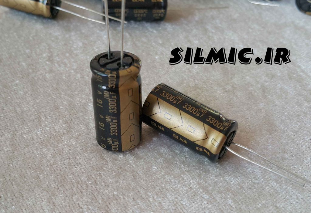 خازن آدیو 3300 میکرو فاراد 16 ولت الکترولیت