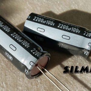 خازن الکترولیت 2200 میکرو فاراد 100 ولت