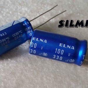 خازن آدیو 330 میکرو فاراد 100 ولت
