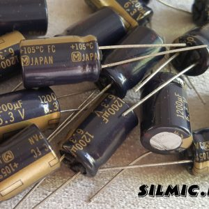 خازن های فای 1200 میکرو فاراد 6.3 ولت