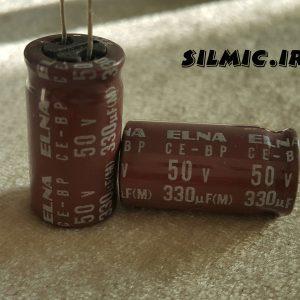 خازن بی پلار 330 میکرو فاراد 50 ولت