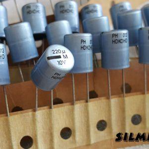 خازن ادیو 220 میکرو فاراد 10 ولت PHILIPS