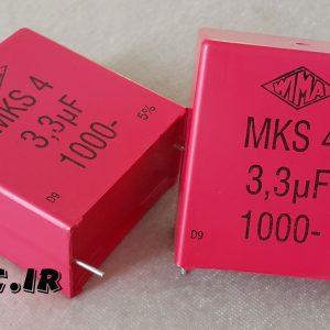 خازن 3.3 میکرو فاراد 1000 ولت