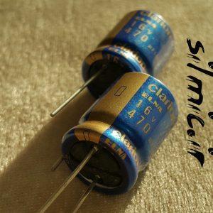 خازن های گرید صوتی 470 میکرو فاراد 16 ولت