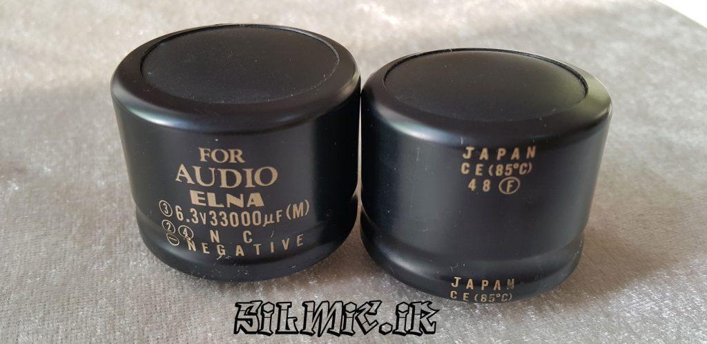 خازن های گرید صوتی 33000 میکرو فاراد 6.3 ولت