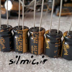 خازن های فای 220 میکرو فاراد 25 ولت