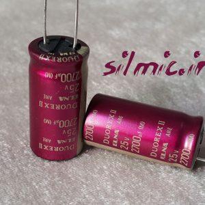 خازن های گرید صوتی 2700 میکرو فاراد 25 ولت