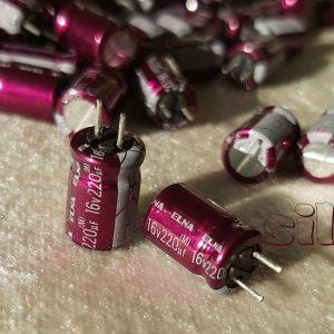 خازن آدیو 220 میکرو فاراد 16 ولت
