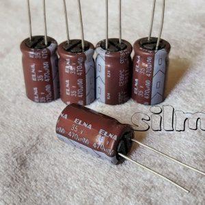 خازن 470 میکرو فاراد 35 ولت ELNA