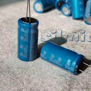 خازن 680 میکرو فاراد 35 ولت Toshin Kogyo