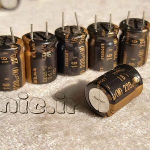 خازن های گرید 220 میکرو فاراد 16 ولت
